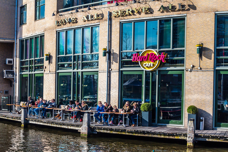 THE NETHERLANDS-AMSTERDAM-MUSEUM DISTRICT-HARD ROCK CAFE