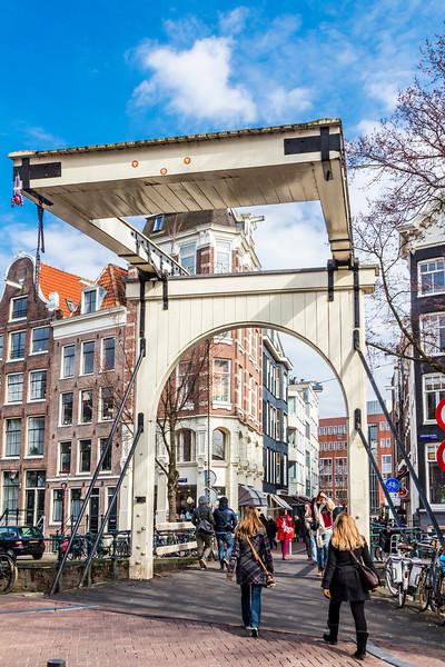 THE NETHERLANDS-AMSTERDAM-MAGERE BRUG [skinny bridge]