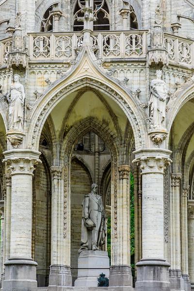 Belgium-Brussels-Capital Region-Monument Leopold