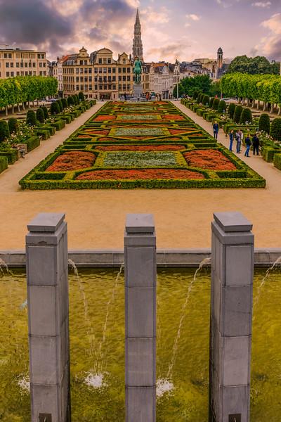 Belgium-Brussels-Capital Region-Park Mont des Arts