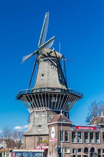 THE NETHERLANDS-AMSTERDAM-DE GOOYER WINDMILL