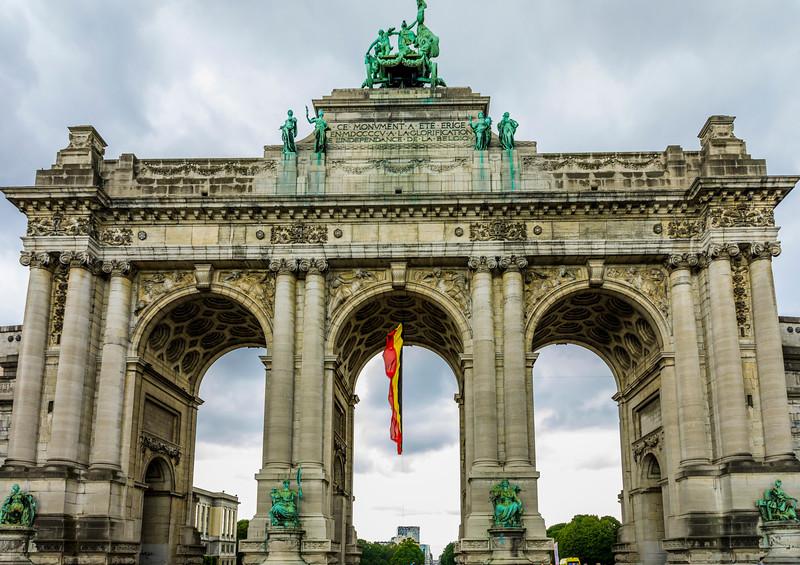 Belgium-Brussels-Capital Region-Parc du Cinquantenaire-Triumphal Arch