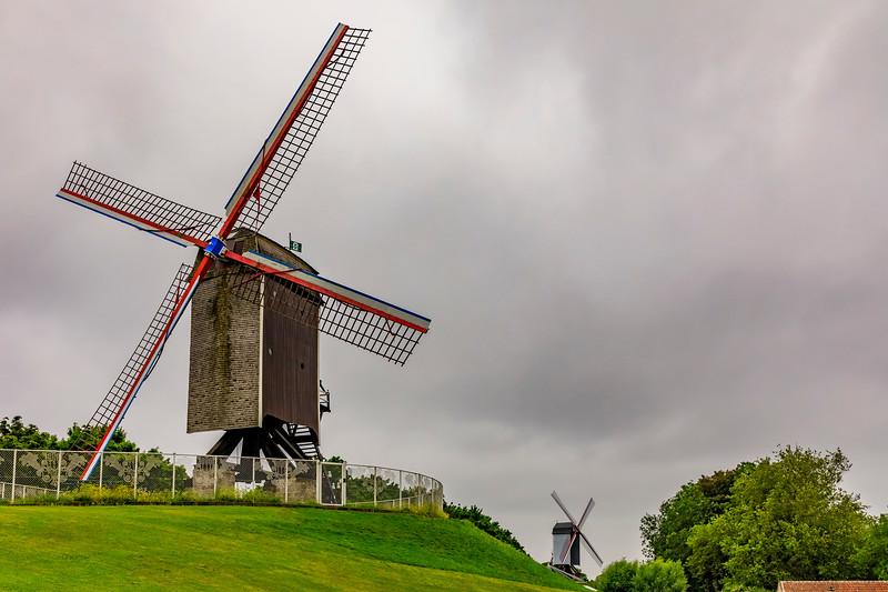 Belgium-Brugge-Sint-Janshuismolen Windmill and  Bonne Chieremolen<br /> Windmill