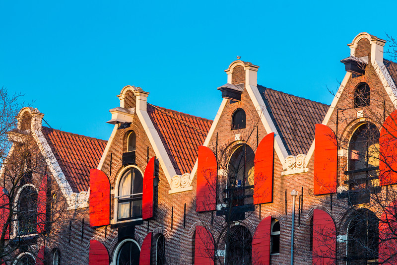 THE NETHERLANDS-AMSTERDAM-RED SHUTTERS