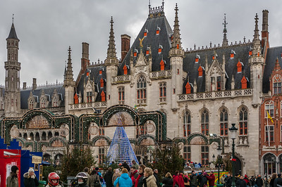 Town Square at Christmas - Bruges