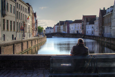 Reading the Morning Paper in Bruges