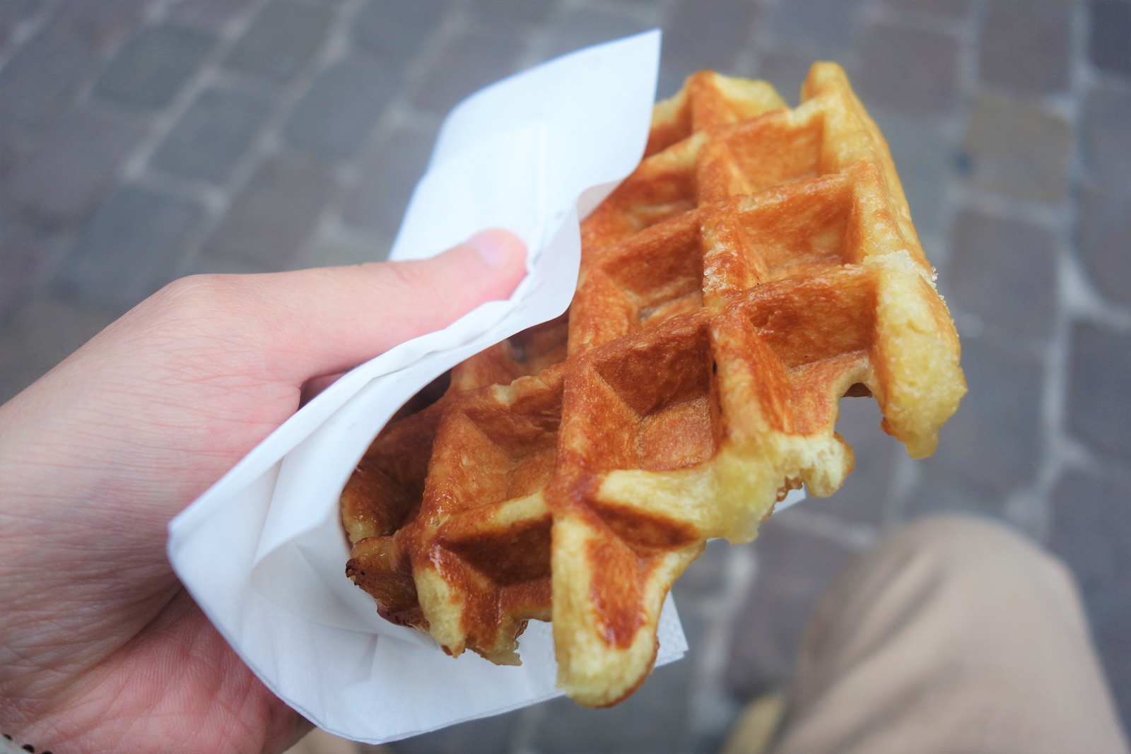 best waffles in bruges close up