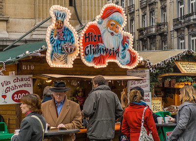 Popular Stall in the Christmas Market