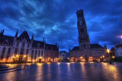 Early Morning Bruges After Rain