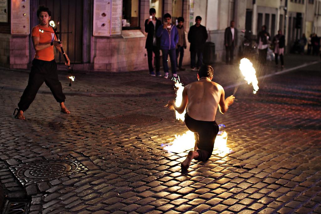 Street Performers in Brussels
