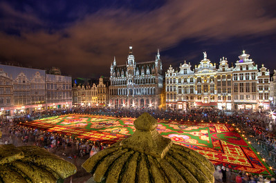 Grand Place Carpet of Flowers View