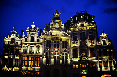 Grand Place Architecture at Night