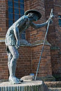 Saint Roch,Sint Rochus,statue,beeld,Aarschot,Belgium,België,Belgique
