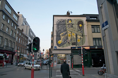 Bruxelles building art