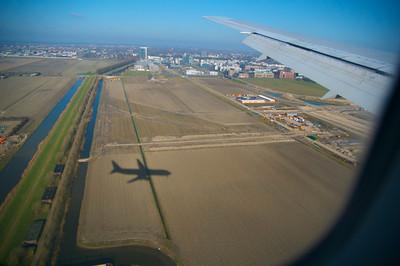 Landing in Amsterdam