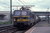SNCB 1206 heads an intermodal service towards the docks area at Antwerpen Noorderdokken on 24 May 2005