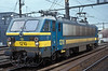 SNCB 1210 runs through Antwerpen Berchem on 31 August 2006 on its way to collect another trainload of containers