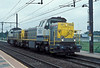 Part of the steady stream of locos around the Antwerp area on 31 August 2006 are 7858 and 7850 passing Antwerpen Noorderdokken