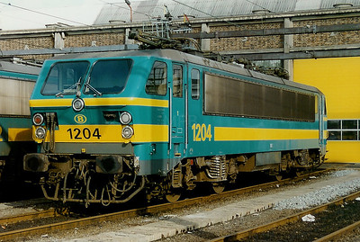 1204 at Kortrijk Depot on 15th February 1997