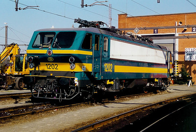 1202 at Merelbeke Depot on 6th April 2002