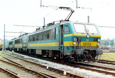1202 at Kortrijk Depot on 3rd June 2000