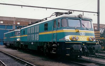 1502 at Kinkempois Depot on 21st February 1998