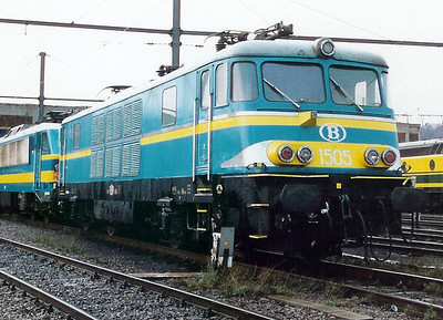 1505 at Kinkempois Depot on 19th February 2000