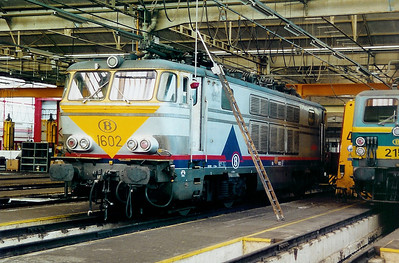 1602 at Oostende Depot on 3rd June 2000