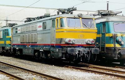 1601 at Oostende Depot on 3rd June 2000