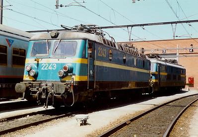 2243 at Merelbeke Depot on 15th June 1996