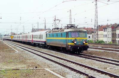2203 at Brussel Nord on 23rd May 2003