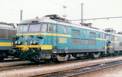 2603 at Schaarbeek Depot on 21st February 1998