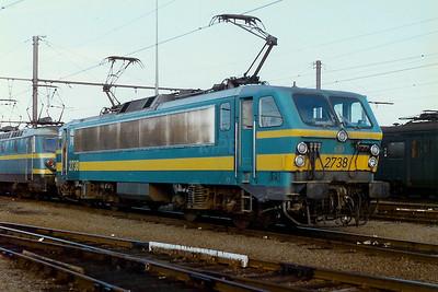 2738 at Saint Ghislain Depot on 24th August 1996