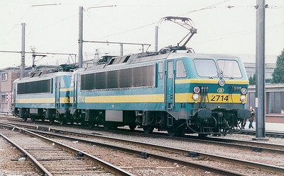 2714 at Schaarbeek Depot on 21st February 1998