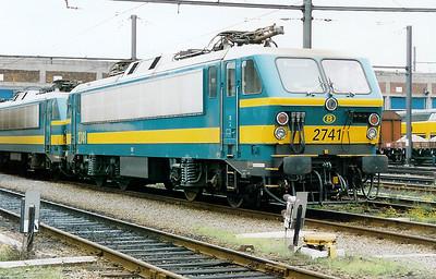2741 at Kinkempois Depot on 31st October 1998