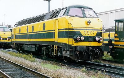 5502_a at Kinkempois Depot on 31st October 1998