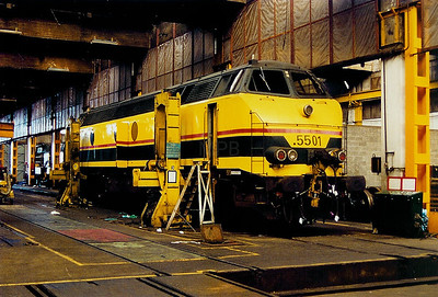 5501 at Schaarbeek Depot on 6th April 2002