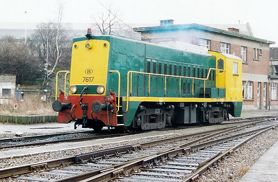 7617 at Antwerp Dam Depot on 18th February 2000