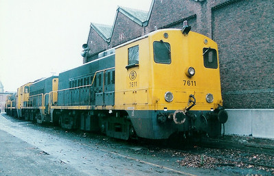 7611 at Antwerp Dam Depot on 21st February 1998