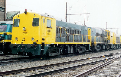 7612 at Antwerp Dam Depot on 18th February 2000