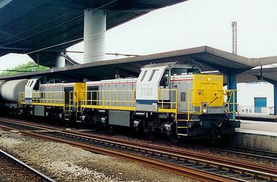 7722 at Charleroi Sud on 25th May 2003