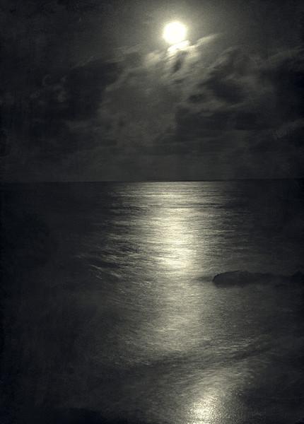 Caribbean Water at Night