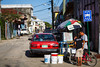 Buying and selling on the streets of Belize City, Belize, Central America.