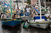 Boats in the marina in Belize City, Belize, Central America.
