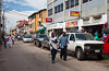 Downtown street stalls in Belize City, Belize, Central America.
