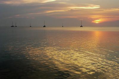 Sailing Boats and Sunset