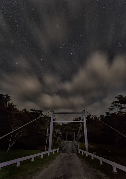 Suspension bridge over Chan Chich Creek