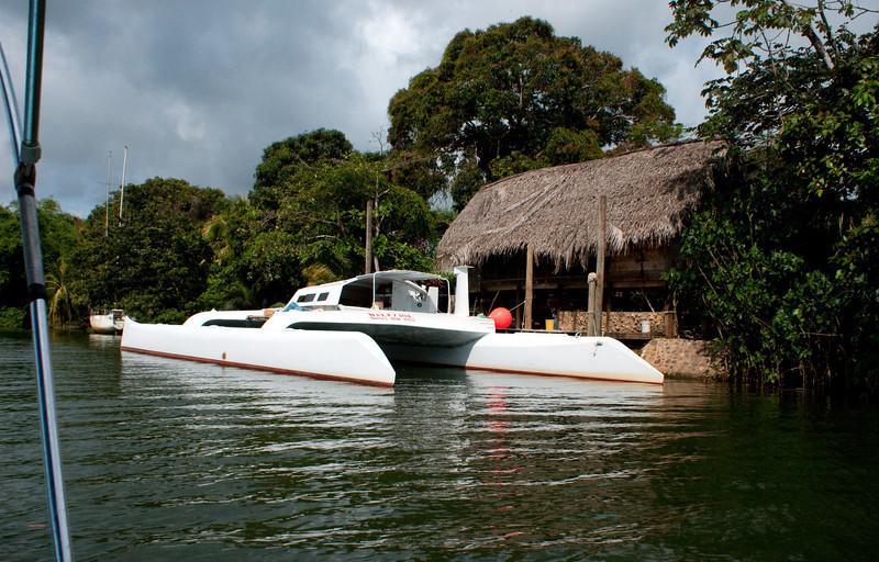 Glovers resort catamaran on Sittee River