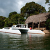 Glovers resort catamaran on Sittee River