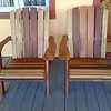 Two of the rectory deck chairs
